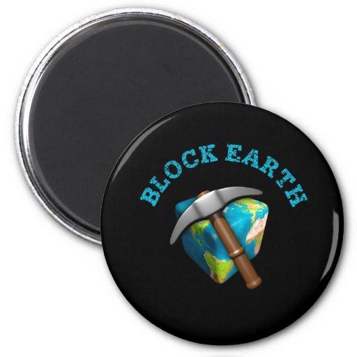 Blocks Earth (impediment background) Fridge Magnet