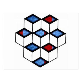 Blocks of Illusion Postcard