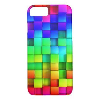 Blocks Rainbow 3d Graphics Background iPhone 8/7 Case