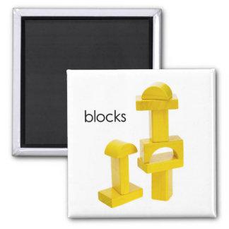 Blocks Refrigerator Magnet