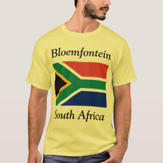 Bloemfontein, South Africa with South African Flag T-Shirt