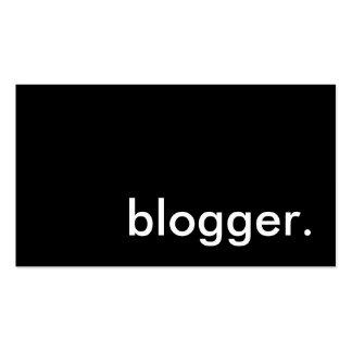blogger. business card templates