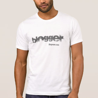Blogger - for light colored Ts T-shirt