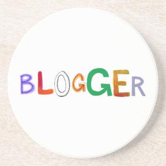 Blogger fun colourful art words blog blogging beverage coasters
