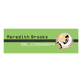 Blogger Profile Card Business Cards