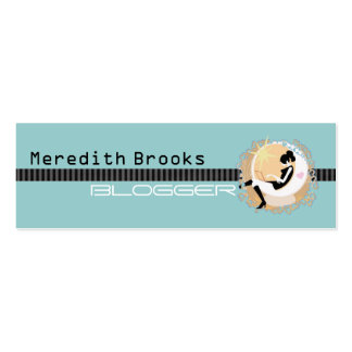 Blogger Profile Card Pack Of Skinny Business Cards