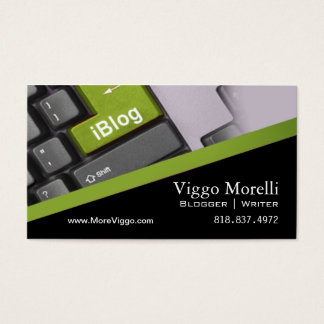 Blogger Writer Editor Internet WordPress Blog Business Card