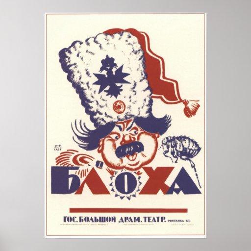 """Bloha"" Liteiny Theatre Soviet Union 1926 Posters"