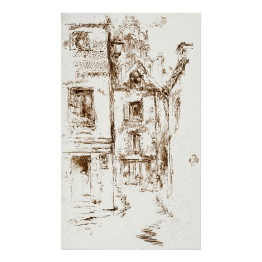 Blois Cathedral Neighborhood 1880 Posters