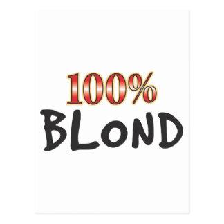 Blond 100 Percent Post Card
