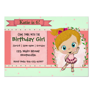 Blond Ballet or Dance Party Card