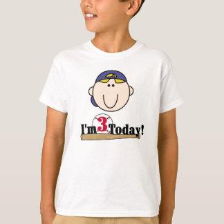 Blond Baseball 3rd Birthday T-Shirt