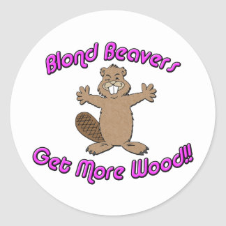 Bald Beaver Stickers | Zazzle.com.au