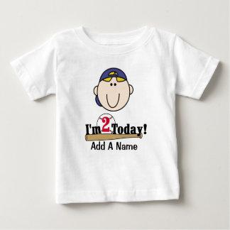 Blond Boy Baseball 2nd Birthday T-shirt