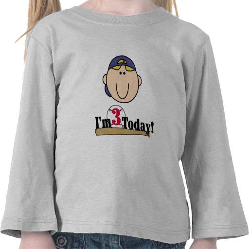 Blond Boy Baseball 3rd Birthday Tshirts