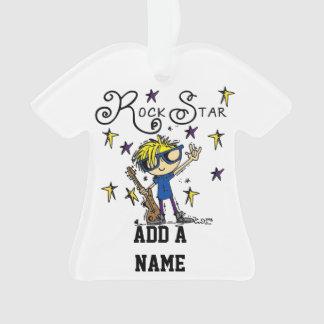Blond Boy Rock Star Ornament