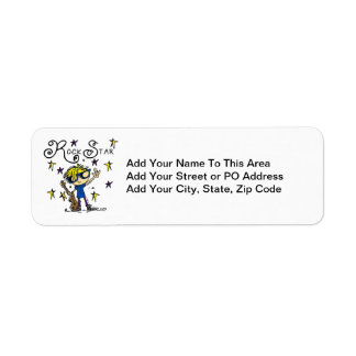 Blond Boy Rock Star Return Address Label