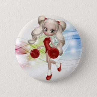 Blond Cheerleader Button