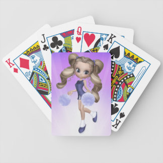 Blond Cheerleader Playing Cards