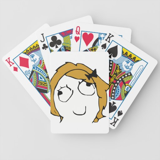 Blond Derpina Bicycle Poker Cards