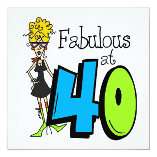 Blond Fabulous at 40 Birthday Card