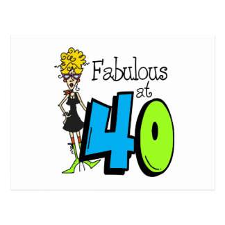 Blond Fabulous at 40 Birthday Postcard