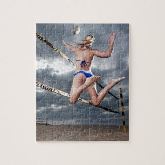 blond Female beach volleyball player Jigsaw Puzzle