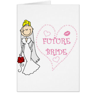 Blond Future Bride T-shirts and Gifts Card