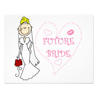 Blond Future Bride T-shirts and Gifts Invites