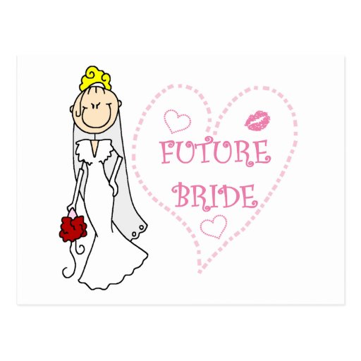 Blond Future Bride T-shirts and Gifts Post Card