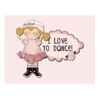 Blond  Girl Dancer Tshirts and Gifts Postcard