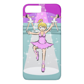 Blond girl dancing ballet in the theater iPhone 8 plus/7 plus case