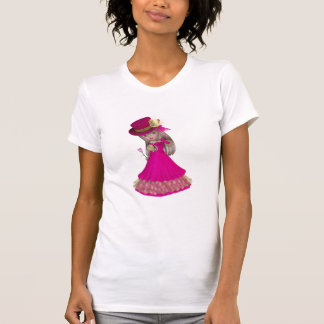 Blond Girl Holding a Pink Rose Tee Shirts