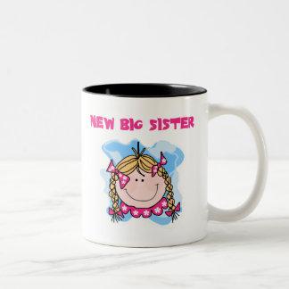 Blond Girl New Big Sister Two-Tone Coffee Mug