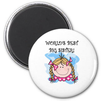 Blond Girl World's Best Big Sister Magnet