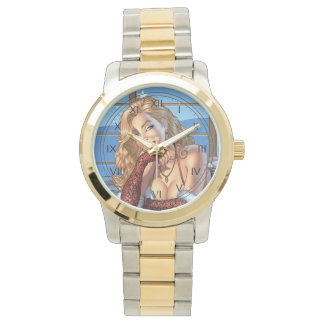 Blond Hair, Blue Eyed Beauty Illustration - Al Rio Watches