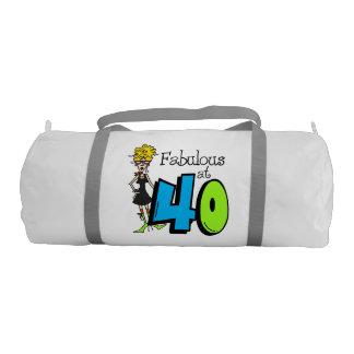 Blond Hair Fabulous at 40 Duffle Bag Gym Duffel Bag