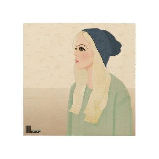 Blond Hipster Wood Print