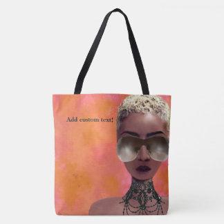 Blond Melanin Berry Beauty Black Art Orange Blush Tote Bag