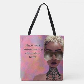 Blond Melanin Berry Beauty Black Art Rainbow Tote Bag