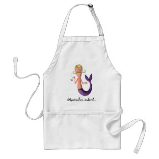 Blond Mustached Merman Aprons