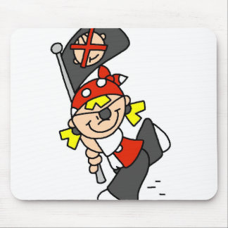 Blond Pirate With Flag Mouse Pad