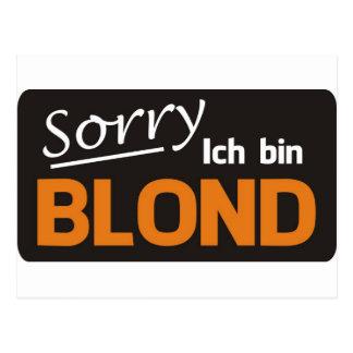Blond Postcard