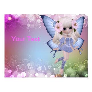 Blond Princess Butterfly Postcard