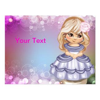 Blond Princess Postcard