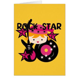 Blond Rock Star Girl Card