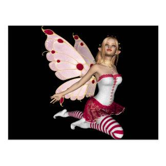 Blond Valentine Fairy - Pink 1 Postcard