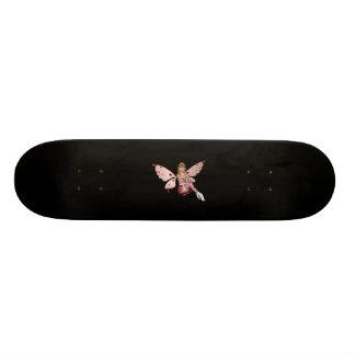 Blond Valentine Fairy - Pink 2 Custom Skate Board