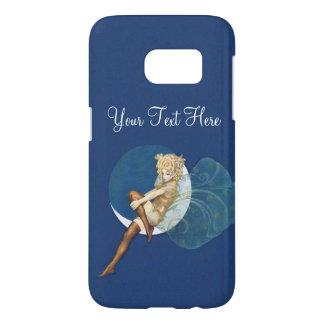 Blond Vintage Fairy Silk Stockings on Blue Moon