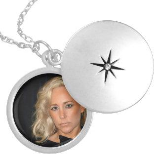 Blond Woman Locket Necklace